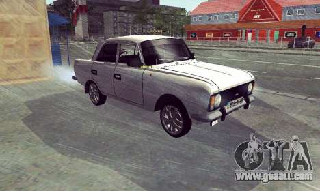 Moskvich 412 White Swallow for GTA San Andreas back left view