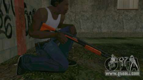 Orange Shotgun for GTA San Andreas forth screenshot
