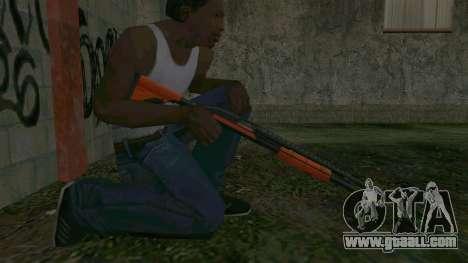 Orange Shotgun for GTA San Andreas forth screenshot