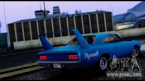 Plymouth Roadrunner Superbird RM23 1970 IVF for GTA San Andreas back left view