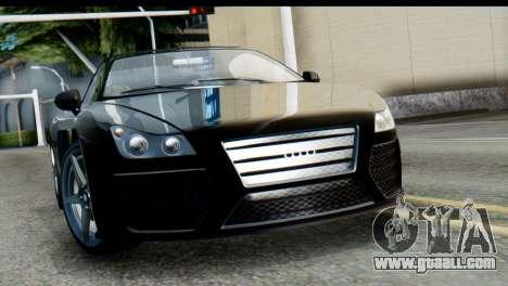 GTA 5 Obey 9F Cabrio SA Mobile for GTA San Andreas back left view