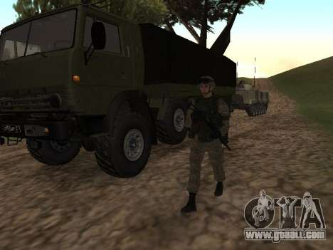 Soldiers of the Russian army in the Warrior outf for GTA San Andreas