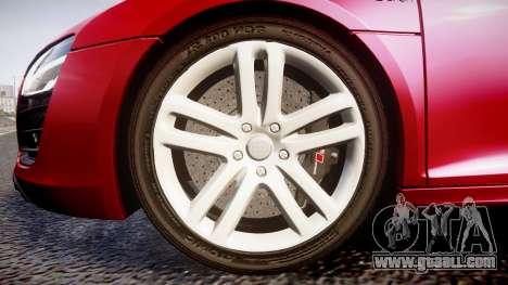Audi R8 E-Tron 2014 for GTA 4 back view