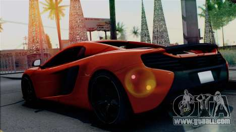 McLaren 650S Spider 2014 for GTA San Andreas left view