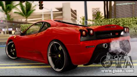 Ferrari F430 Scuderia for GTA San Andreas right view