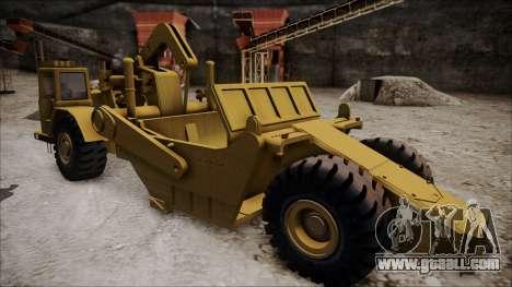 Caterpillar 631D for GTA San Andreas back left view