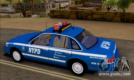 Ford Crown Victoria NYPD  Mazarine for GTA San Andreas