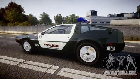 DeLorean DMC-12 [Final] Police for GTA 4 left view