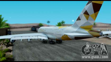 Airbus A380-800 Etihad New Livery for GTA San Andreas