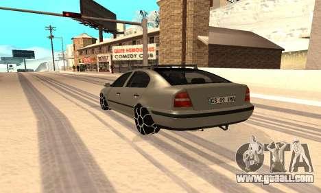 Skoda Octavia Winter Mode for GTA San Andreas left view