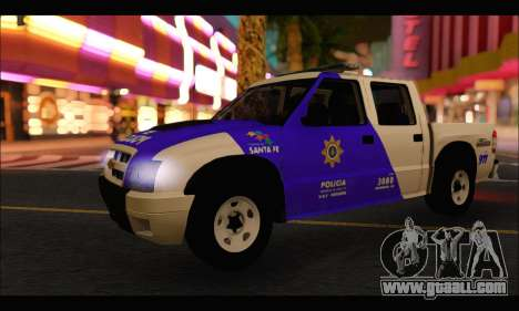Chevrolet S-10 Policia de Santa Fe for GTA San Andreas back left view