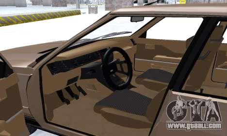 Renault 11 Turbo Phase I 1984 for GTA San Andreas interior