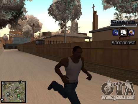 С-HUD GHETTO for GTA San Andreas third screenshot