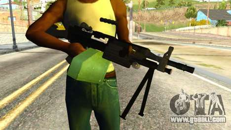 M249 Machine Gun for GTA San Andreas third screenshot