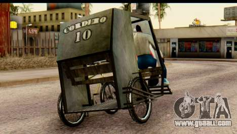 Pedicab Philippines for GTA San Andreas left view