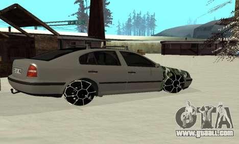 Skoda Octavia Winter Mode for GTA San Andreas back view