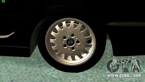 BMW 730i for GTA San Andreas engine