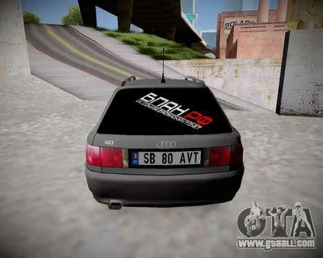 Audi 80 B4 Avant BAN.RF for GTA San Andreas right view