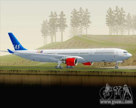 Airbus A330-300 Scandinavian Airlines for GTA San Andreas left view