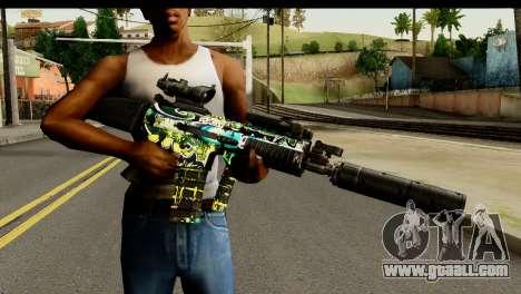 Grafiti M4 for GTA San Andreas third screenshot