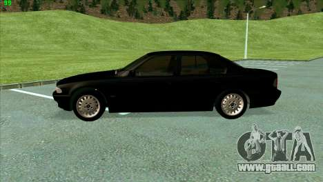 BMW 730i for GTA San Andreas inner view