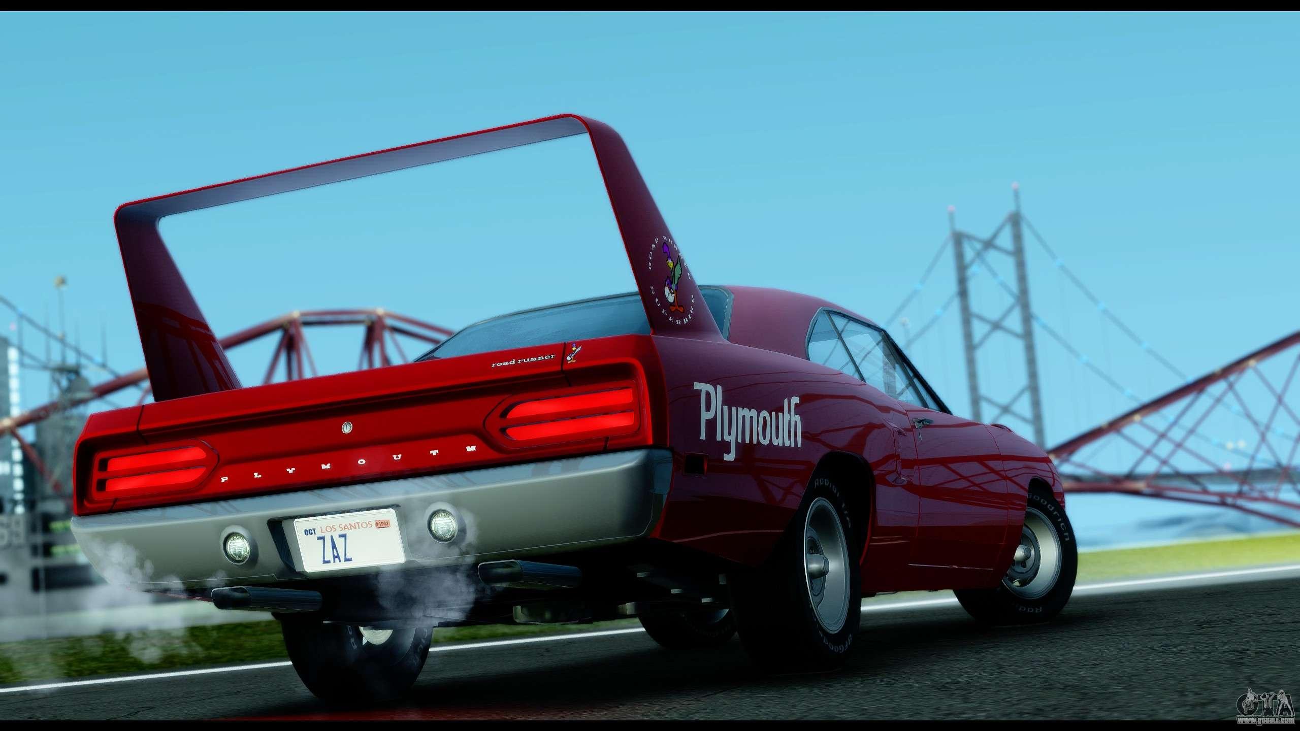 Plymouth For Gta San Andreas 1973 Satellite Station Wagon Roadrunner Superbird Rm23 1970 Ivf