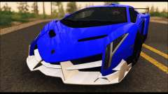 Lamborghini Veneno White-Black 2015 (ADD IVF) for GTA San Andreas