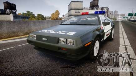 DeLorean DMC-12 [Final] Police for GTA 4