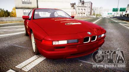 BMW E31 850CSi 1995 [EPM] Castrol Red for GTA 4