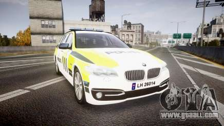 BMW 530d F11 Norwegian Police [ELS] for GTA 4