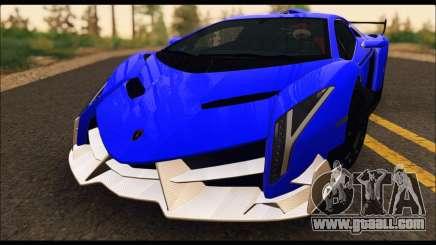 Lamborghini Veneno White-Black 2015 (ADD IVF) for GTA San Andreas