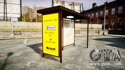 Advertising Windows 95 at bus stops for GTA 4