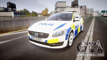 Volvo V60 Swedish Police [ELS] for GTA 4