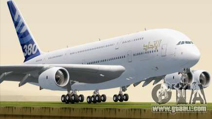 Airbus A380-800 F-WWDD Etihad Titles for GTA San Andreas