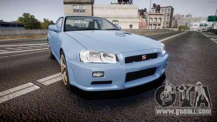 Nissan Skyline R34 GT-R V.specII 2002 for GTA 4