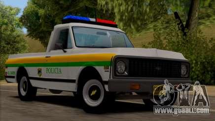 Chevrolet C10 1972 Policia for GTA San Andreas
