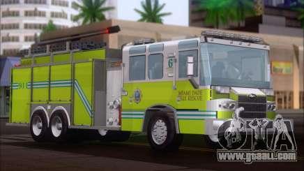 Pierce Quantum Miami Dade FD Tanker 6 for GTA San Andreas