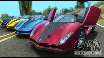 Grotti Cheetah v3 (GTA V) (SA Mobile) for GTA San Andreas