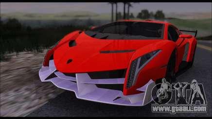 Lamborghini Veneno White-Black 2015 (HQLM) for GTA San Andreas