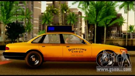 GTA 4 Vapid Stanier Downtown Cab for GTA San Andreas