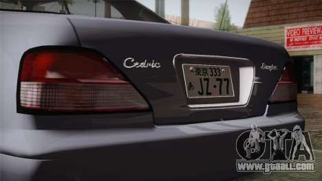Nissan Cedric for GTA San Andreas back view