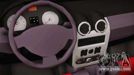 Dacia Logan Most Wanted Edition v1 for GTA San Andreas back view