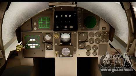 F-15DJ Mitsubishi Heavy Industries for GTA San Andreas back view