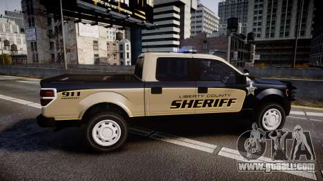 Ford F150 2010 Liberty County Sheriff [ELS] for GTA 4 left view
