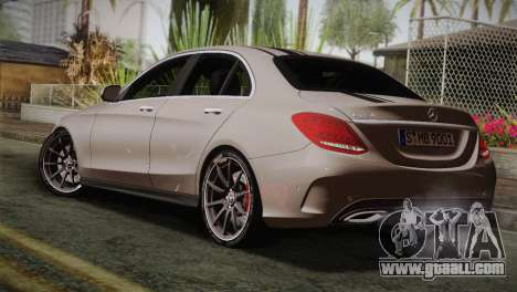 Mercedes-Benz C250 AMG Edition 2014 EU Plate for GTA San Andreas left view