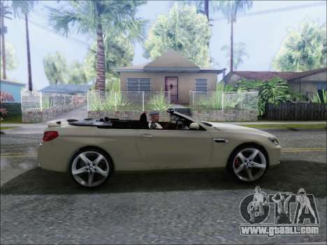 BMW M6 Cabriolet 2012 for GTA San Andreas back left view
