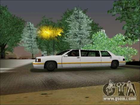Elegant Limousine for GTA San Andreas left view