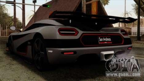 Koenigsegg One 1 for GTA San Andreas left view