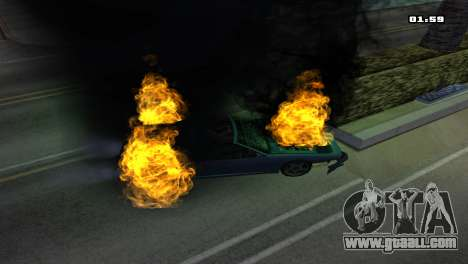 Burning Car for GTA San Andreas