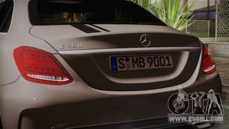 Mercedes-Benz C250 AMG Edition 2014 EU Plate for GTA San Andreas right view